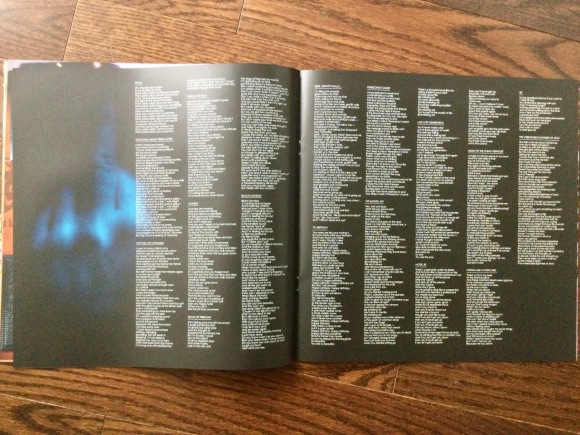 Box booklet 'Hallucigenia' lyric sheet