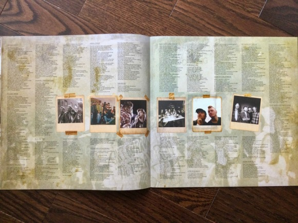 Box set booklet 'Shakespeare my butt' lyrics page