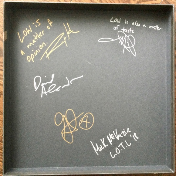 Box set inside cover autographs